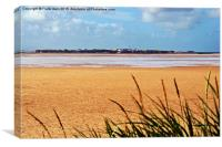 Hilbre Island in the river Dee, Canvas Print