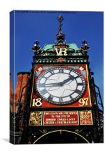 Chester's famous Eastgate Clock, Canvas Print