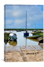 Heswall Beach and its slipway, Canvas Print