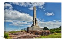 West Kirby War memorial in Grange Hill, Canvas Print