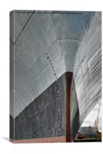 The bows of RFA Fort Austin, Canvas Print