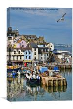 Part of Brixham harbour, Canvas Print
