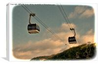 Cable cars in Koblenz, Canvas Print