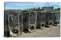 Lobster pots at Caemis Bay, Anglesey, Canvas Print