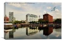 Liverpool across Salthouse Dock, Canvas Print