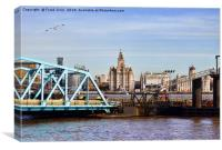Liverpool 3 Graces thro' the Stena Line Terminal, Canvas Print