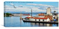Stavanger Harbour, Canvas Print