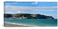 Dwarfing the pier, Llandudno's Great Orme, Canvas Print