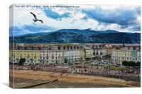 Unusual view of Llandudno's sea front, Canvas Print