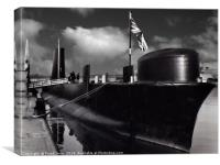 Another in my B&W series of scans from mounted pic, Canvas Print