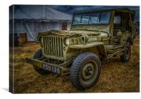 Willys Wonder, Canvas Print