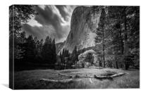 El Capitan from the Meadow, Canvas Print