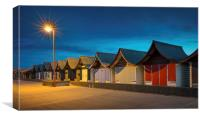 Mablethorpe Beach Huts, Canvas Print