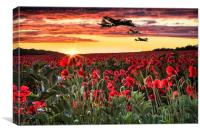 Flying Fortress, Canvas Print