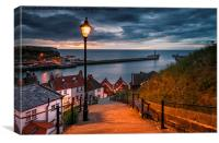 Whitby - 199 Steps, Canvas Print