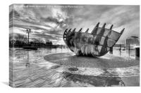 Merchant seafarer's war memorial 2 mono, Canvas Print