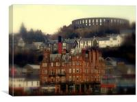 Oban up & up, Canvas Print