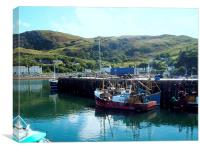 Fishing Boats in Mallaig Harbour, Canvas Print