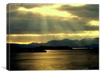 Loch Etive , a Golden View, Canvas Print