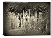 Creepy House in the Woods, Canvas Print