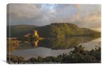 Eilean Donan Castle , Evening sun, Canvas Print