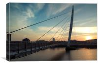 Sail Bridge Sunset, Canvas Print