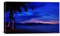 Blue Sunset, Canvas Print