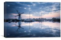 Dawn on the Broads, Canvas Print