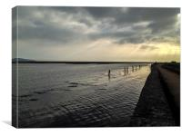 Harbour Wall at Keyhaven, Canvas Print