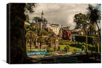 Portmeirion Village in North wales, Canvas Print
