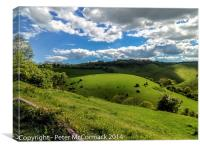 View of the South Downs, Sussex, England, Canvas Print