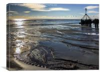 On Hove Beach by the Outfall, Canvas Print