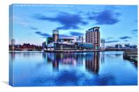 Cityscape in Salford Quays, Canvas Print