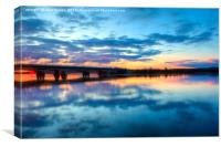 Lapland Sunset, Canvas Print