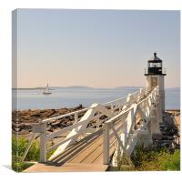 Marshall Point Lighthouse Port Clyde Maine, Canvas Print