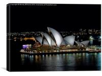 Sydney Opera House by Night, Canvas Print