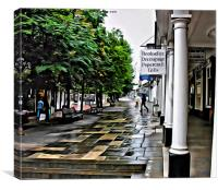 Wet afternoon on the Pantiles, Canvas Print