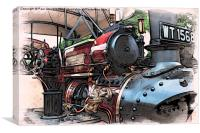 Traction Engine -02, Canvas Print