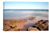 Smooth rocks of Sandy Bay, Canvas Print
