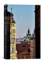 Prague Cityscape, Canvas Print