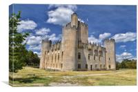 Roquetaillade Castle in Cadillac, Canvas Print