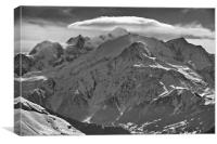 Mont Blanc: The roof of Europe, Canvas Print