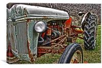 Old Rusty Tractor, Canvas Print