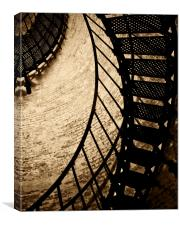 Abstract Stairs, Canvas Print