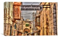 Western Wall Directions, Canvas Print