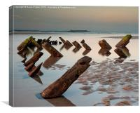 Wreck on Bamburgh Beach, Canvas Print