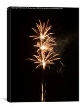 Firework Threesome, Canvas Print