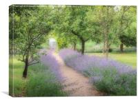 Kitchen Garden path at Chenies Manor, Canvas Print