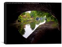 Grand Union Canal; keyhole view, Canvas Print