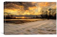 Gunthorpe Weir, Canvas Print